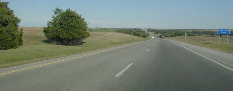 Interstate I-40 USA Autobahn Oklahoma 54